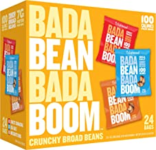Enlightened Bada Bean Bada Boom Plant-Based Protein, Gluten Free, Vegan, Non-GMO, Soy Free, Roasted Broad Fava Bean Snacks, The Classic Box Variety Pack, 1.0 oz, 24Count