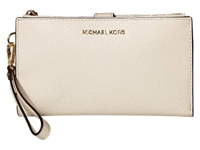 MICHAEL Michael Kors Double Zip Wristlet (Light Cream) Wristlet Handbags