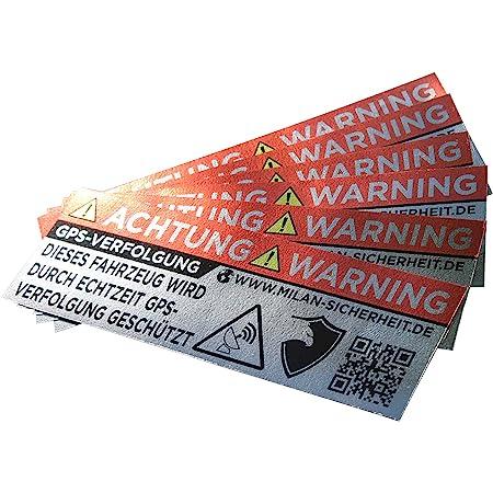 Grip Bender 6 Stück Gps Sticker Ortungs Gps Signal Gesichert Inkl Webseite Auf Dem Anti Diebstahl Aufkleber Alarm Warnaufkleber Für Auto Motorrad Und Fahrrad Aussenklebend Silber Auto