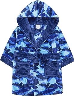 Lora Dora Boys Dinosaur Bones Robe Hooded Fleece Dressing Gown Kids Novelty Bathrobe Gift