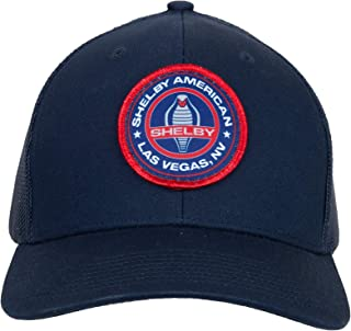 Shelby American Cobra Navy Hat | Officialy Licensed Shelby Product | One-Size Fits All | Adjustable Plastic Snap Closure