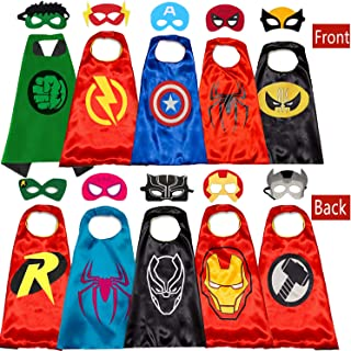 Superhero Capes and Masks for Kids Halloween Cosplay Double Side Capes Superhero Toy Kids Best Gifts