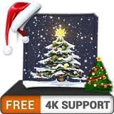 無料の美しさのクリスマスツリーHD-HDR 4K TV、8K TVの美しい風景、部屋の壁紙、クリスマス休暇の装飾、調停と平和のテーマで部屋を飾ります