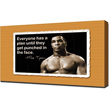 Silk Custom Poster Mike Tyson Boxer Battle Motivational Quote Boxing Sport C-694