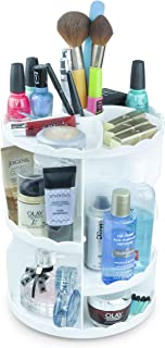 Lux Majestic Rotating Makeup Organizer 360 Degree Rotation Adjustable Vanity Organizer for Storing Your Cosmetics and Toiletries, Organizing Desk and Saving Counter Space - Decorative Carousel
