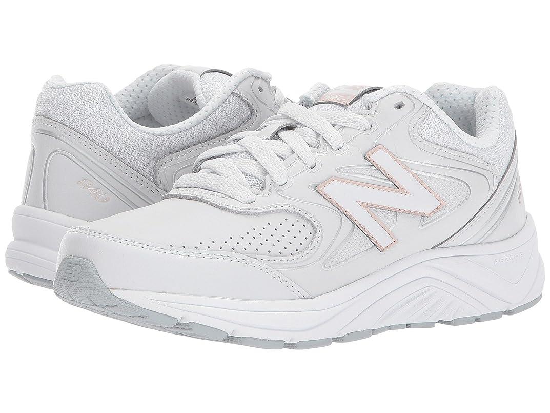 定規マウント五十レディースウォーキングシューズ?靴 WW840v2 White/Rose Gold 7.5 (24.5cm) EE - Extra Wide [並行輸入品]