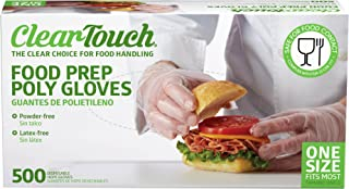 Medline Clear Touch Food Prep Poly Gloves, Latex and Powder Free, One Size Fits Most, (2000 Count)