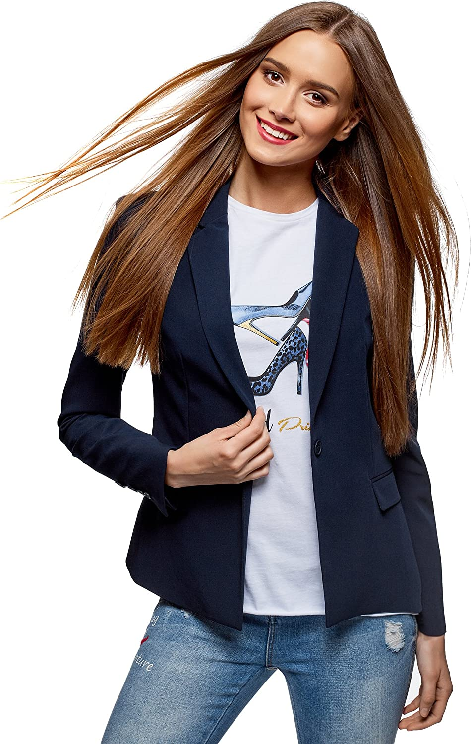 All stores are sold oodji Collection Women's Blazer Mail order Classic Slim-Fit