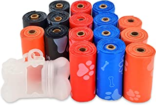 Best Pet Supplies Dog Poop Bags for Waste Refuse Cleanup, Doggy Roll Replacements for Outdoor Puppy Walking and Travel, Leak Proof and Tear Resistant, Thick Plastic - Mixed Colors, 240 Bags