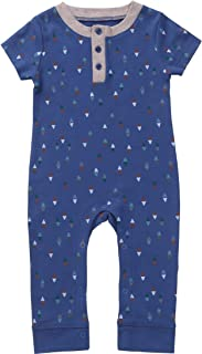 Asher & Olivia Baby Boy Romper Jump Suit Short and Long Sleeve Jumper Coverall Jumpsuit
