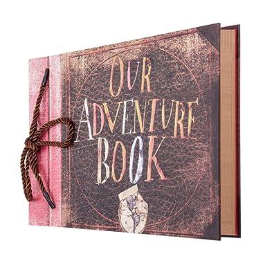 Gotideal Photo Album Scrapbook, DIY Handmade Album Photo Book Our Adventure Book Scrapbook Movie Up Travel Scrapbook for Christmas, Anniversary, Wedding, Travelling, Friend, Memory with Stickers