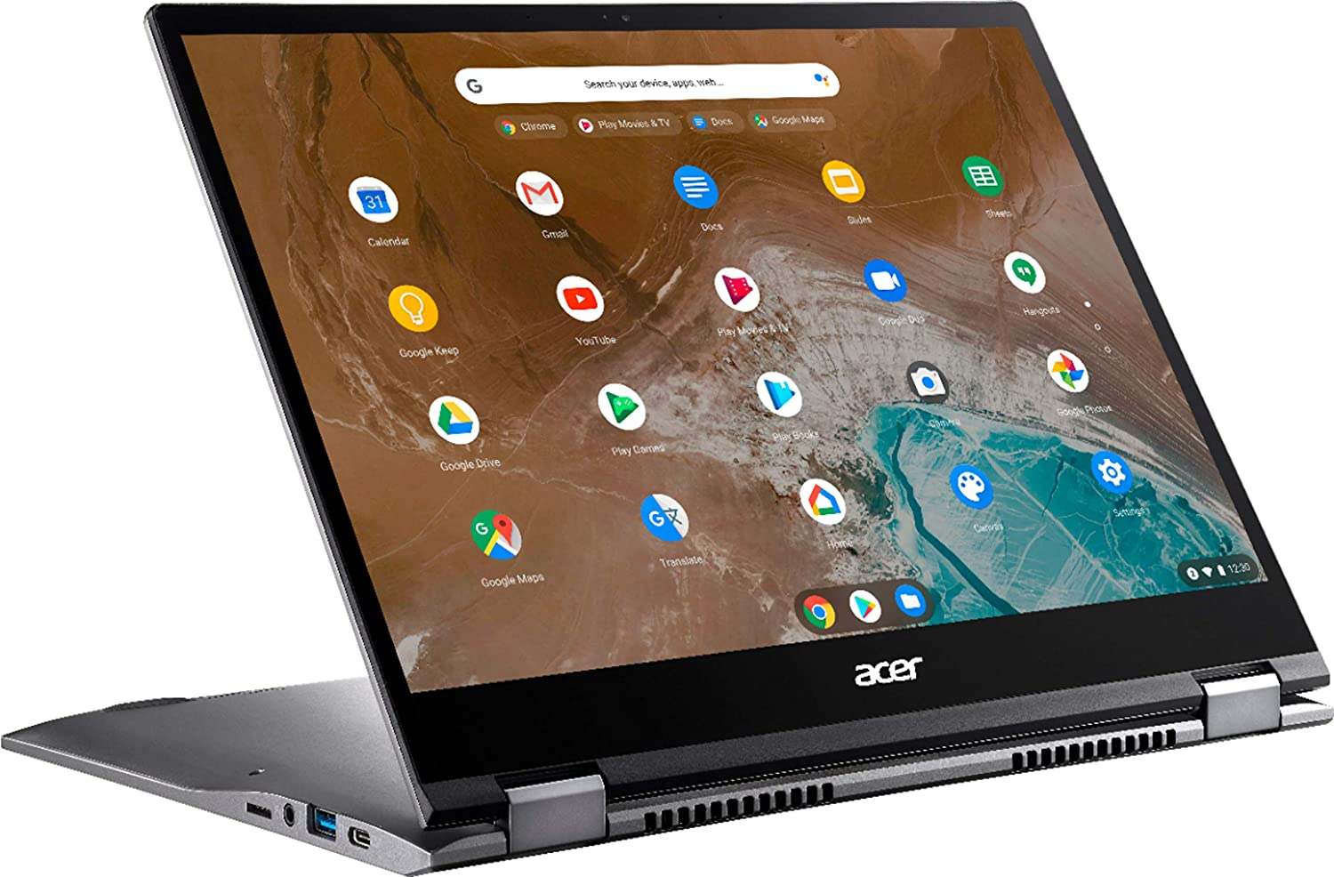"""Amazon.com: Acer - Chromebook Spin 713 2-in-1 13.5"""" 2K VertiView 3:2 Touch - Intel i5-10210U - 8GB Memory - 128GB SSD – Steel Gray : Electronics"""