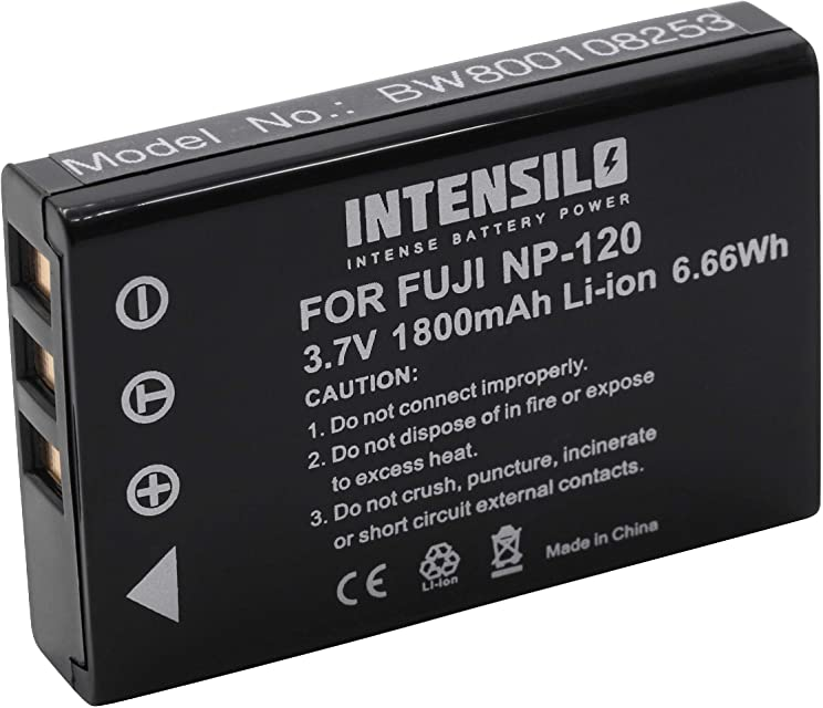 INTENSILO Li-Ion Akku 1800mAh (3.6V) für Videokamera Camcorder Actioncam Toshiba Camileo H30 X100 X100 HD wie PX1657 PX1657E-1BRS.