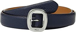 "LAUREN Ralph Lauren 1"" Basic Rounded Centerbar Pebble Belt"
