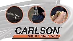 Transparent Hose /& Stainless Banjos Pro Braking PBR4284-CLR-SIL Rear Braided Brake Line