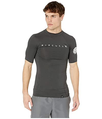 Rip Curl Dawn Patrol UV Tee Short Sleeve (Black Marle) Men