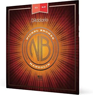 D'Addario NBM1140 Nickel Bronze Mandolin Strings, Medium, 11-40