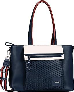 Gabor Umhängetasche Lillie Shopper Synthetik glatt/ge blau