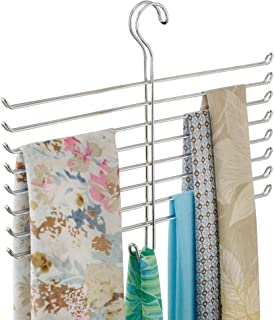 iDesign Classico Spine Scarf Closet Organizer Hanger, Hanging Storage Ideal for Bedrooms, Mudrooms, Dorm Rooms, No Hardware Required, 12.6