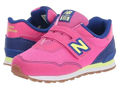 New Balance Kids 515 Hook Loop (Infant/Toddler) (Exhuberant Pink/Marine Blue) Girls Shoes