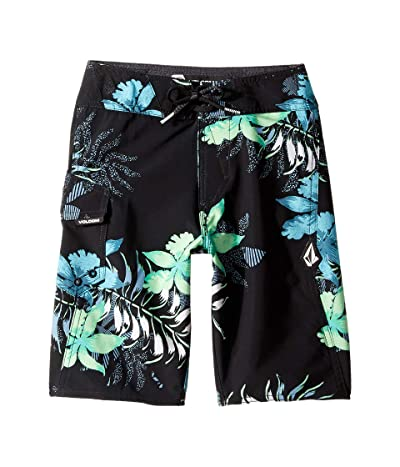 Volcom Kids Wave Fayer Mod Boardshorts (Big Kids) (Black) Boy