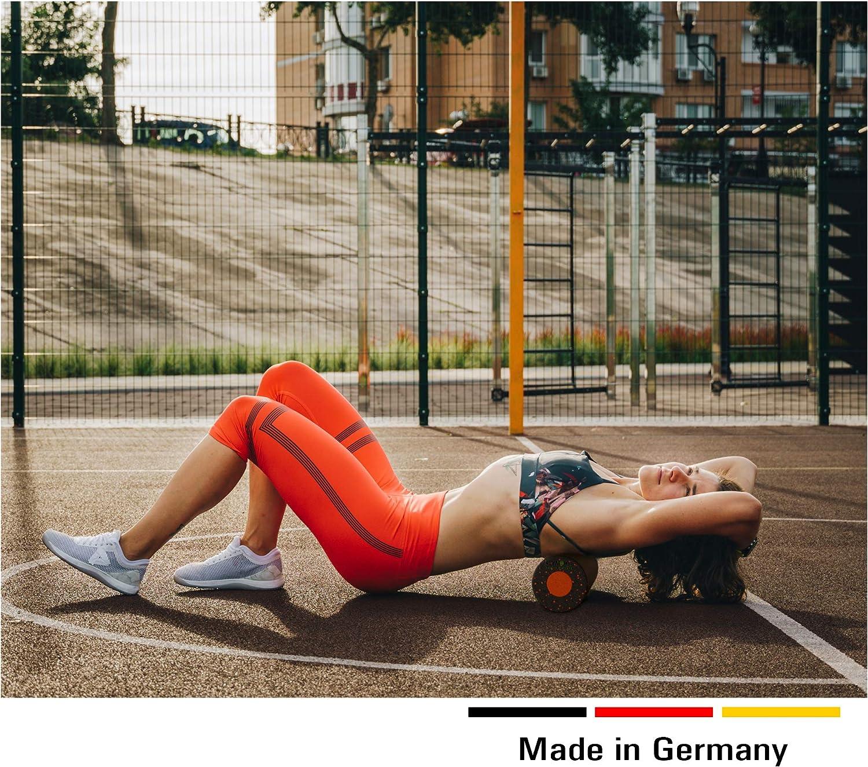 Gymode Juego de rodillos de masaje 2 en 1 con n/úcleo extra/íble para espalda cuello y piernas; rodillo de entrenamiento de dureza media.