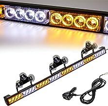 AT-HAIHAN 34-in Directional Flashing Traffic Advisor Amber White LED Emergency Strobe Light Bar for Vehicles Safety Cars Trucks