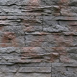 Sample Of Manufactured Stone Veneer Odyssee Charcoal Brown