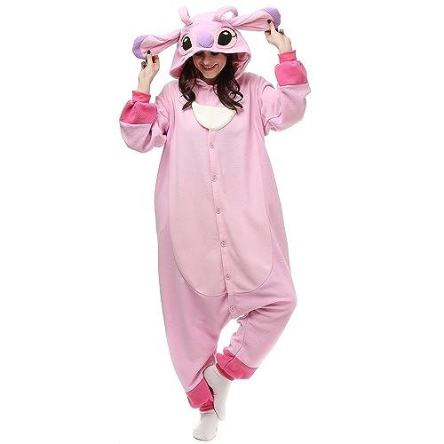 aff57c740fd6 VU ROUL Stitch Onesie Adult Pajamas Pink