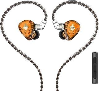HIDIZS MS1-Rainbow in-Ear Monitor Headphones, Hi Res IEMs Earphones with Detachable Cable 2pin 0.78mm, Diaphragm HiFi Bass...