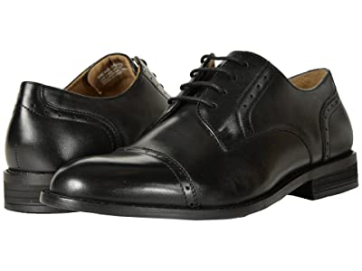 Nunn Bush Sparta Cap Toe Dress Casual Oxford (Black) Men