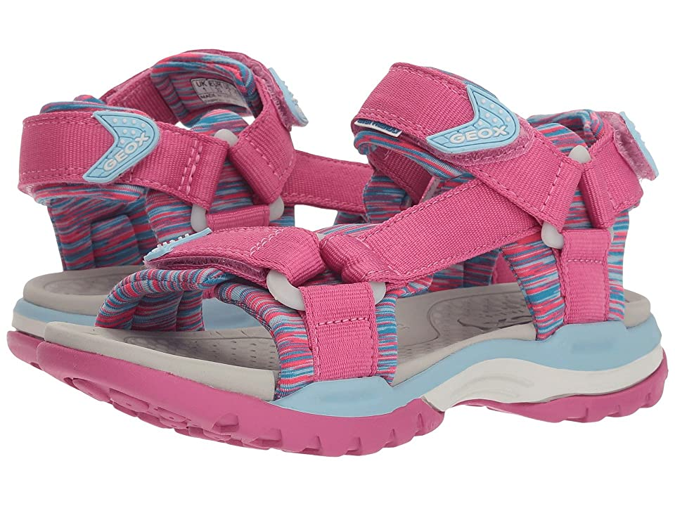 Geox Kids Borealis 7 (Little Kid/Big Kid) (Fuchsia/Sky) Girl