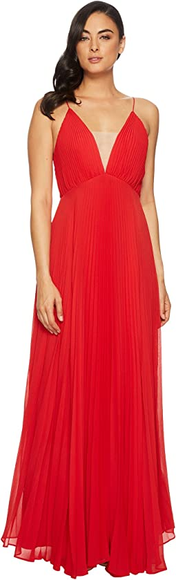 JILL JILL STUART - Pleated Deep V Dress