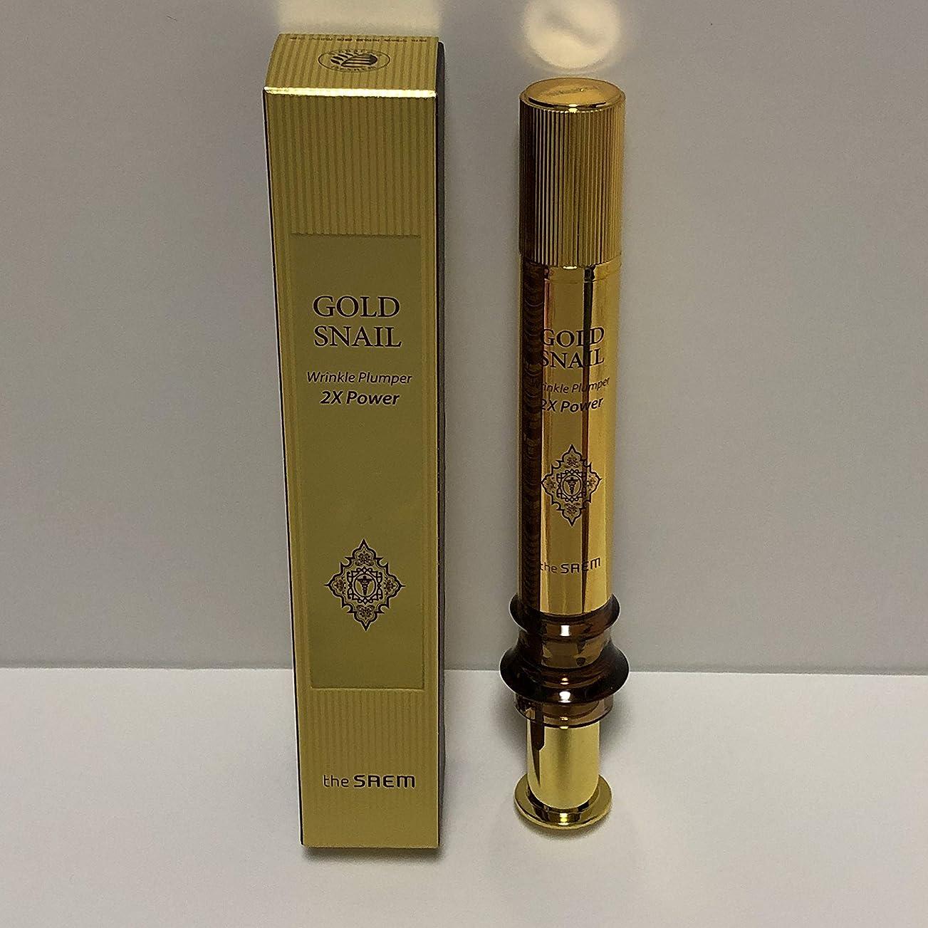 何治安判事安西The Saem Gold Snail Wrinkle Plumper 2X Power 12ml / ザセム ゴールド カタツムリ リンクル プルーパー2Xパワー [並行輸入品]