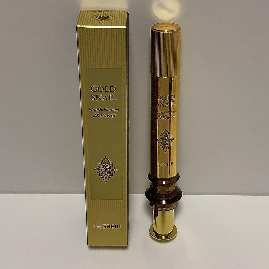 暗い以下抽出The Saem Gold Snail Wrinkle Plumper 2X Power 12ml / ザセム ゴールド カタツムリ リンクル プルーパー2Xパワー [並行輸入品]