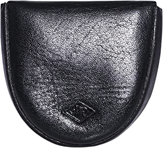 Laveri Unisex Coin Purse - Leather, Black