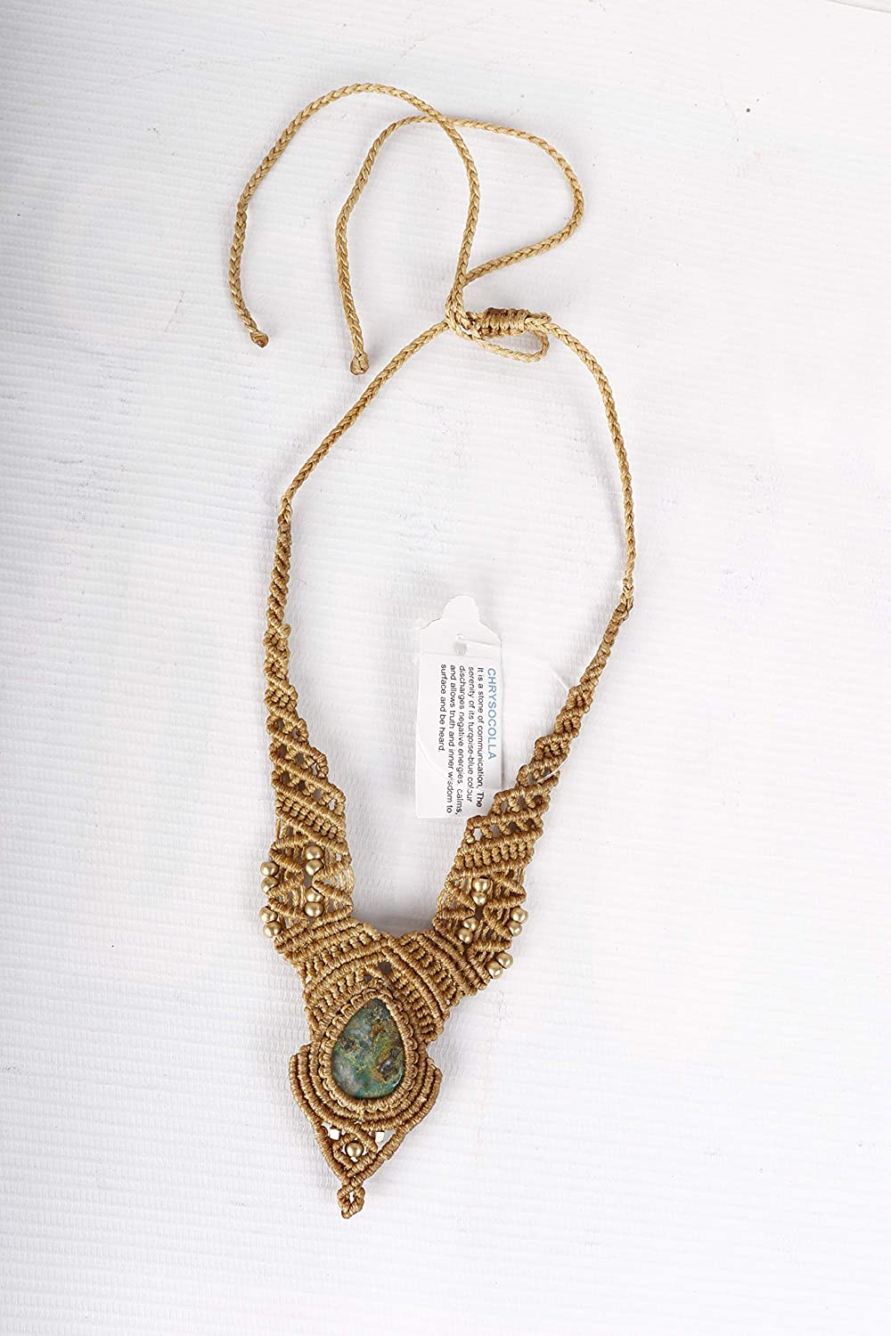 Handmade Macrame Some reservation Necklace Chick Chrysocolla Ston Our shop most popular Jewelry Pendant