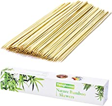 YengHome Natural Bamboo Skewers for Barbecue,BBQ, Shish Kabob, Grill, Fruit, Hot Dog,Chocolate Fountain, Food, Size 10 inch(200 PCS)