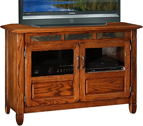 Leick 89046 Riley Holliday Rustic Oak 46 Inches TV Console