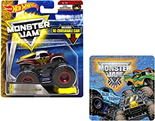 Hot Wheels Monster Jam Wonder Woman Epic Additions 6/15 + One Monster Jam Sticker (Styles Vary) 2 Items Bundle