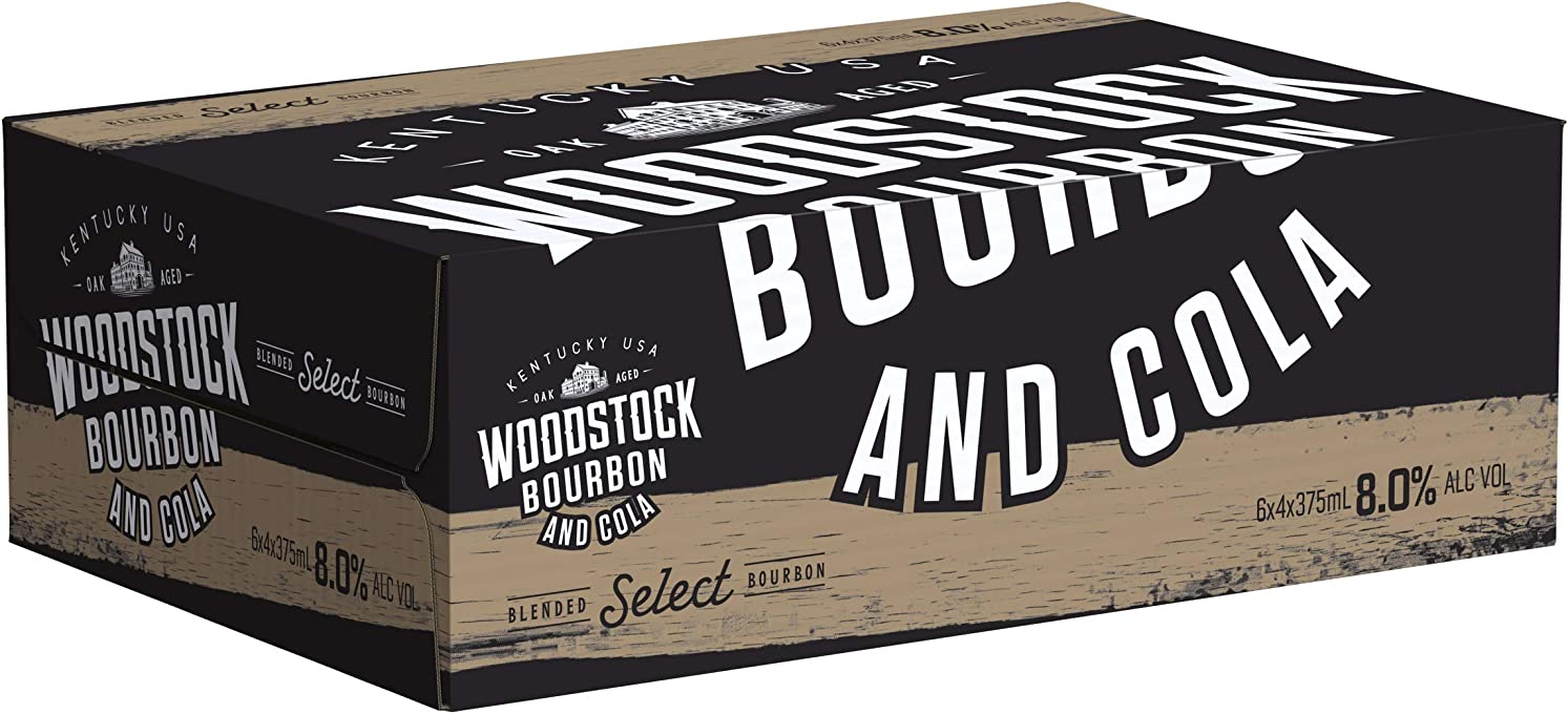 Woodstock Gold Bourbon & Cola 8% Can 375mlx24