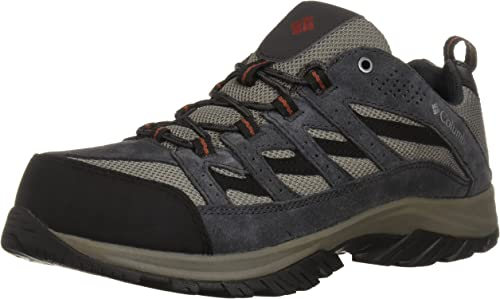Columbia Uomo Crestwood Wide Hire sautope, Quarry, Rusty, 10.5 US