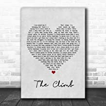 Bendrouka #Miley #Cyrus #The Climb Grey Heart Song Lyric Poster Wall Art Home Decor Gifts for Lovers Painting