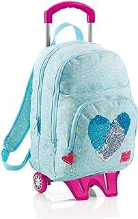 Agatha Ruiz De La Prada – Triple Large Backpack with Cart, Leather Sequins Miquel-