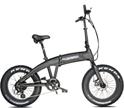 Overfly Folding Electric Bike 48V 500W Bafang Motor 7 Speed 10.4Ah Battery Electric Commuter Bicycle Ebike with Fat Tire
