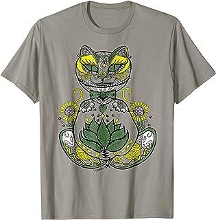 Kitty Cat Lotus Mehndi Henna T-shirt for Men Women Kids
