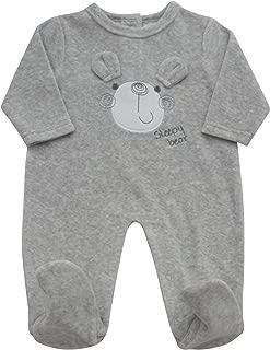 Pitter Patter Sleep Bear Velour Babygrow 42402.