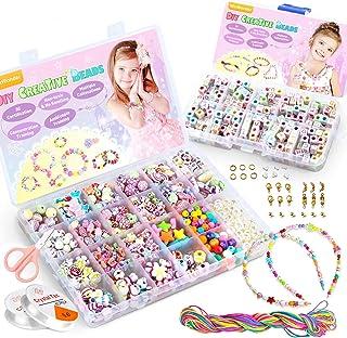 WinWonder Bricolage Perles Set,1150 PCS Bracelets Bricolage Colliers Perles La Fabrication De Bijoux Perles Plastique Colo...