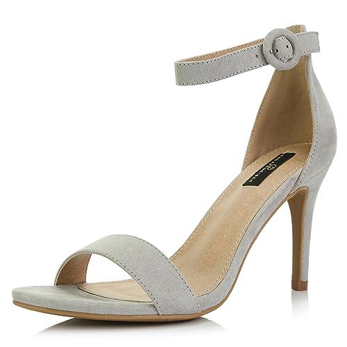 175a5d378074b DailyShoes Women s Stilettos Open Toe Pump Ankle Strap Dress High Heel  Sandals