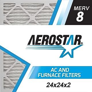 Aerostar 24x24x2 MERV 8, Pleated Air Filter, 24x24x2, Box of 6, Made in The USA